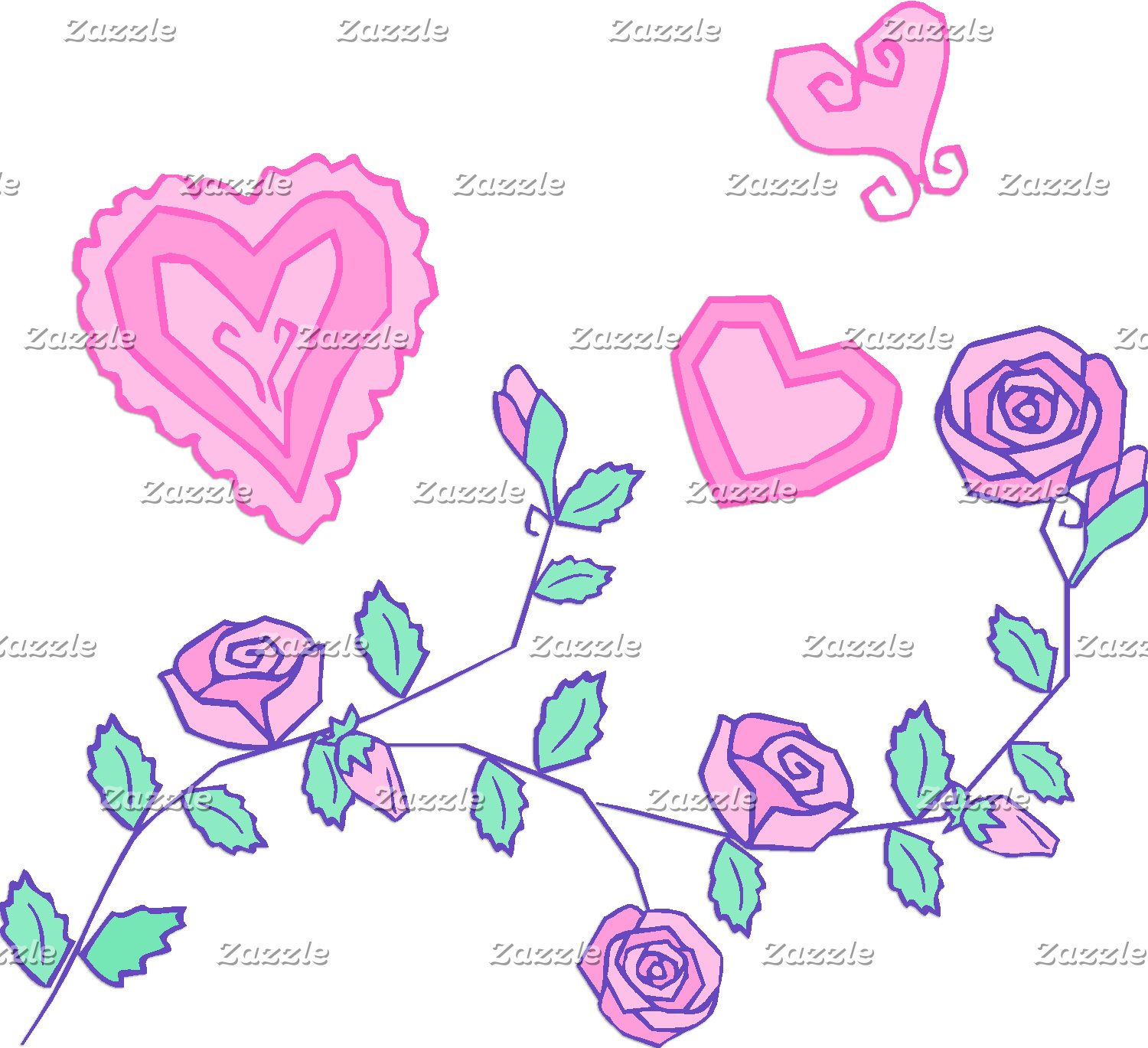 Hearts and Flowers