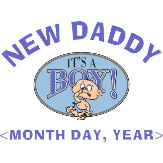 New Baby Boy Personalized New Daddy T-Shirt