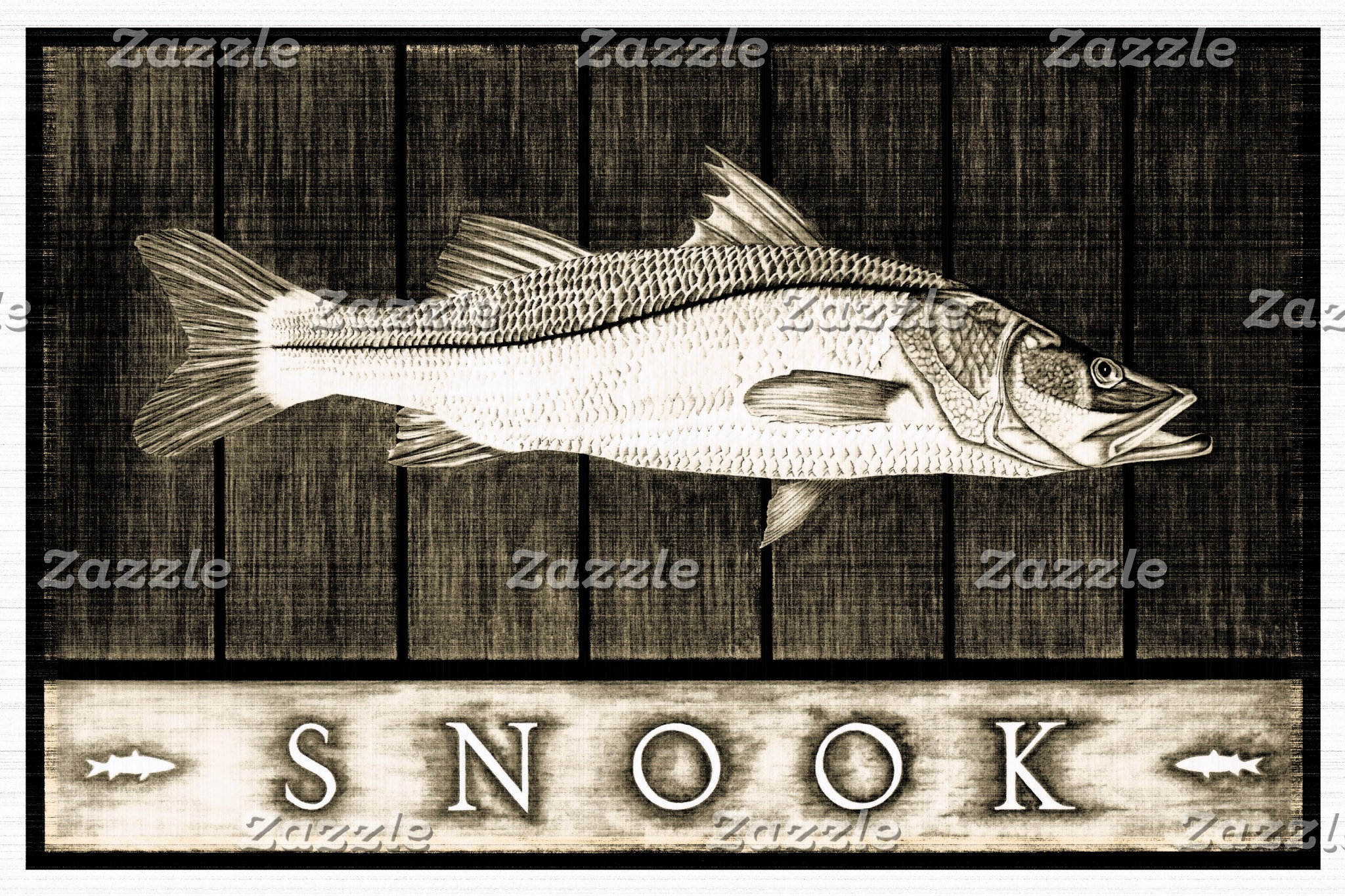 Snook Vintage Black & White