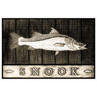 Snook Vintage Black & White