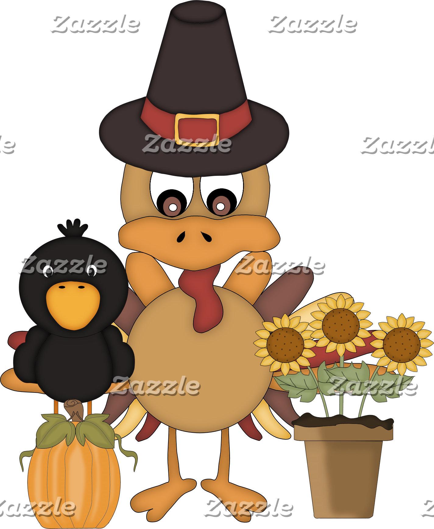 Cute Thanksgiving Turkey Friends