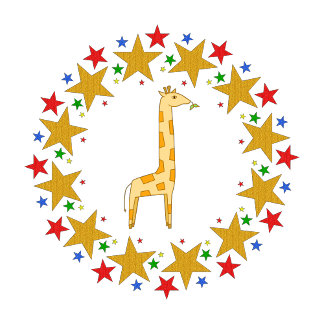 Giraffe in Stars