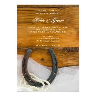 Horseshoe, Pearls and Barn Wood Western Wedding