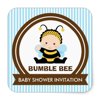 Bumble Bee Shower Invites