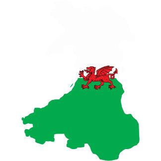 Welsh Flag Map full size