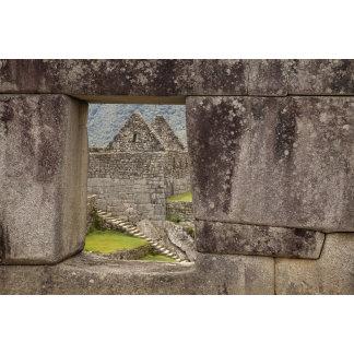 South America, Peru, Machu Picchu. Ruins of a