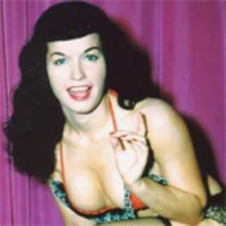 Bettie Page Showing Off Her Fishnet Stockings