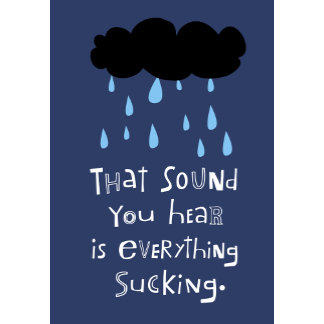 """Black Cloud Raining poster print"""