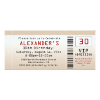 30th Birthday Party Invitations, Gifts, Decoration