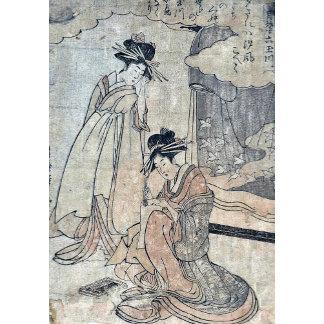 Plovers by Utamaro II, d Ukiyoe