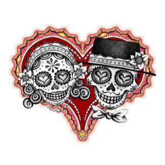 Los Novios with Heart - Black & White