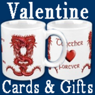 Cards, mugs and presents for  Valentines Day