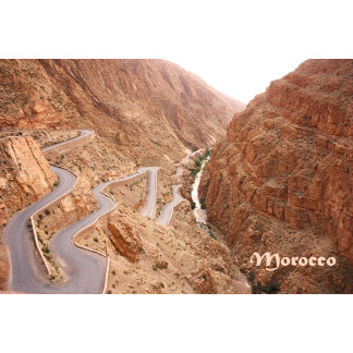 Morocco-Winding Road to Dades Gorge