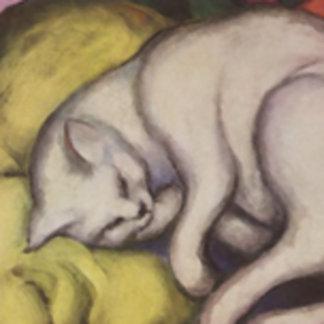 Cat Sleeping Painting