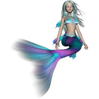 Blue and purple 3D mermaid 4