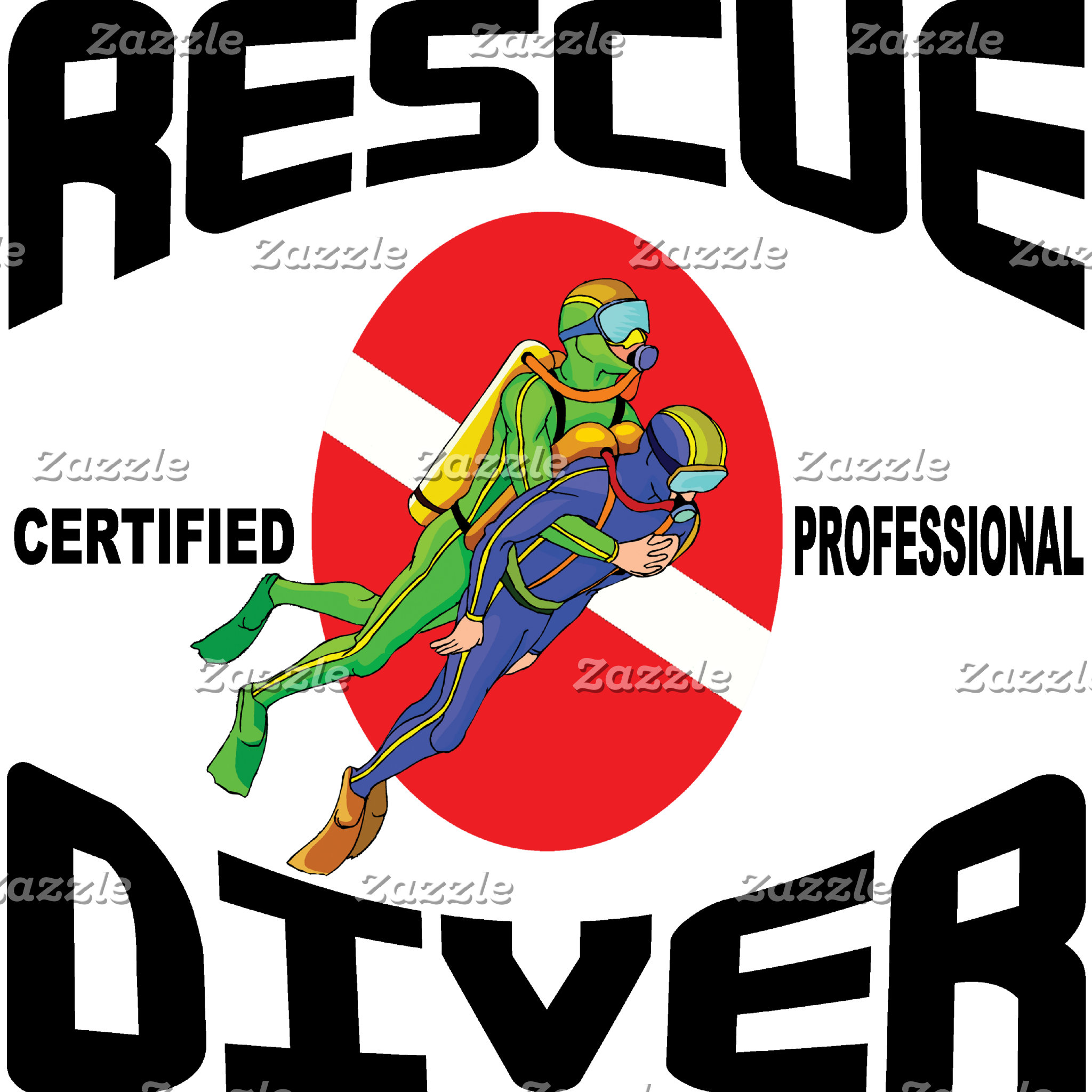 Rescue Diver T-Shirt Gifts Cards