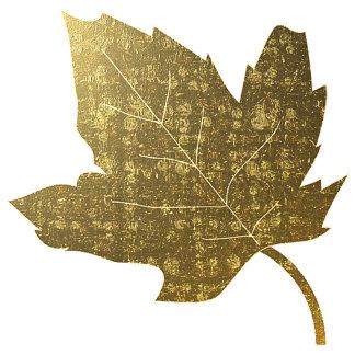Golden Leaves Wedding Set