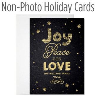 Non-Photo Holiday Cards