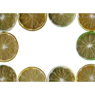 sliced lemon frame