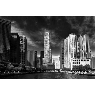 City - Chicago IL - Trump Tower BW