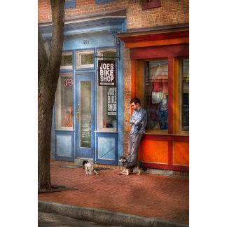 City - Baltimore, MD - Waiting by Joe's bike shop