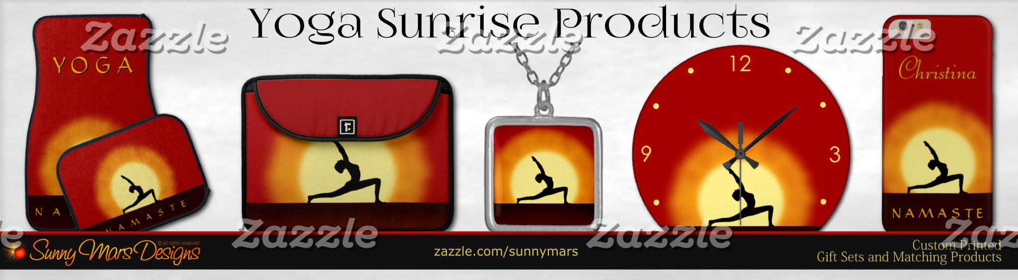 Yoga Sunrise Silhouette Product Set Collection