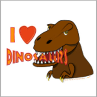 I Love Dinosaurs T Rex