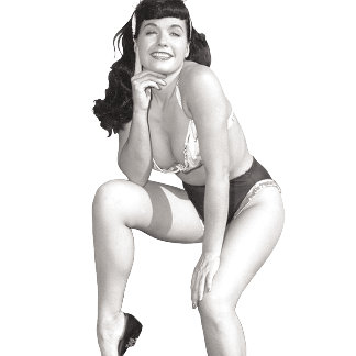 Bettie Page with a Beautiful Smile and Legs Pinup2