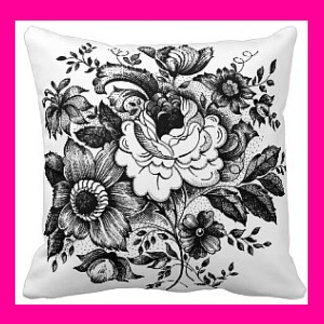 Pillows - Silhouettes and Black on White Designs