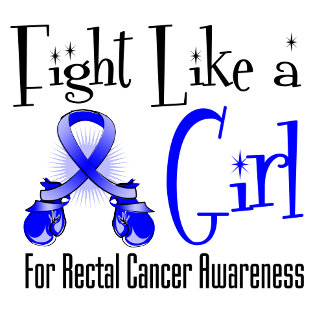 Rectal Cancer Cool Retro Fight Like a Girl