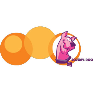 Scooby in Orange Circle