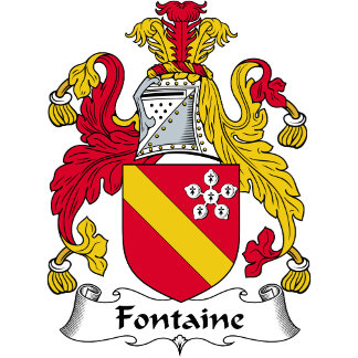 Fontaine Family Crest / Coat of Arms