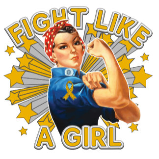 Appendix Cancer Vintage Rosie Fight Like A Girl