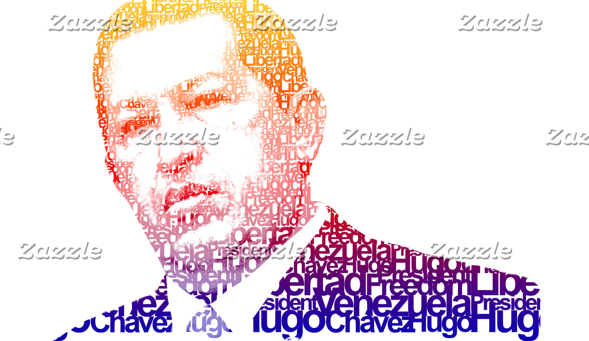 Hugo Chavez - Hugo in Words style