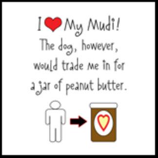 I Love Mudi, Dog Loves Peanut Butter