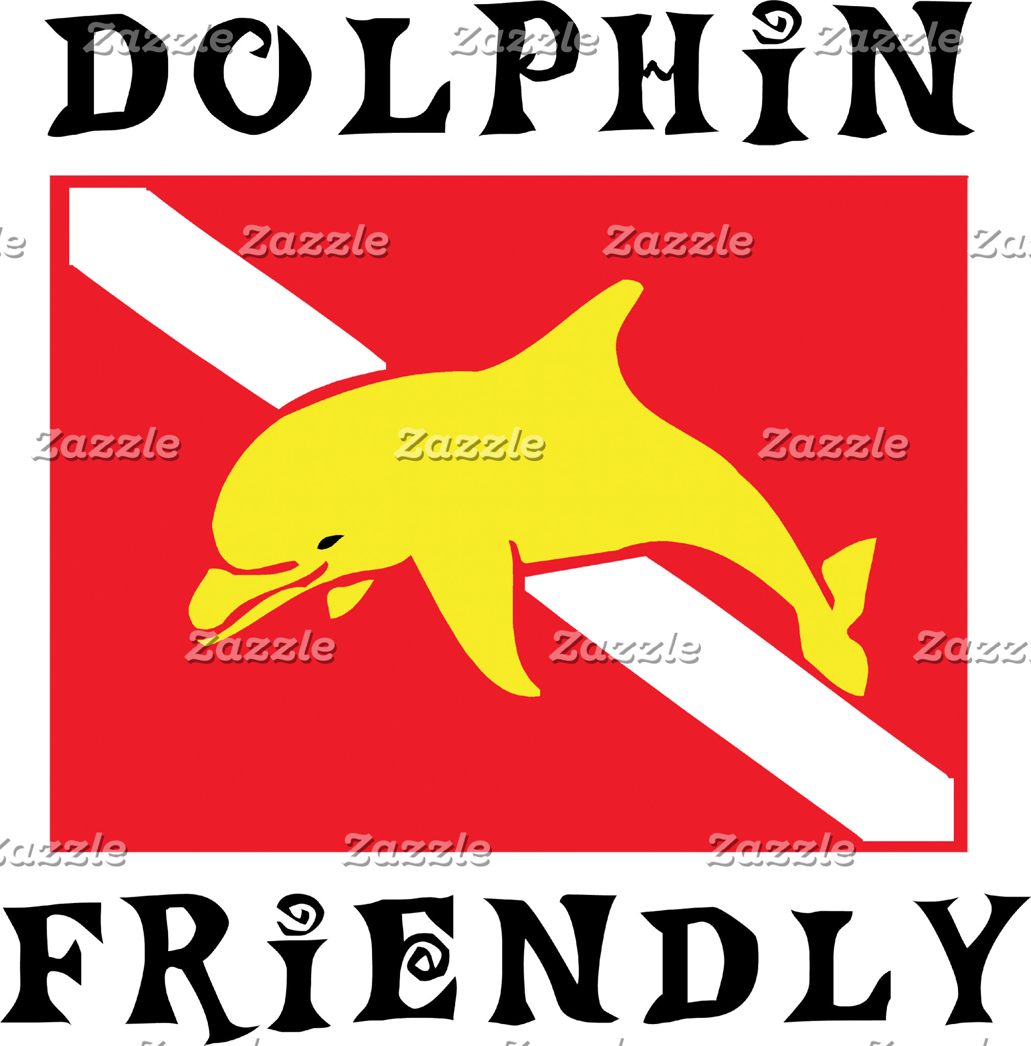 Dolphin Friendly Down Flag T-Shirt Gifts