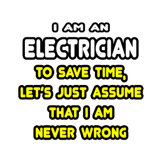Funny Electrician T-Shirts and Gifts