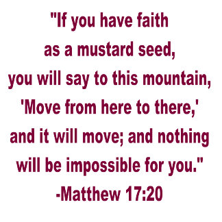 WDJS (What Did Jesus Say?) Faith as a Mustard Seed