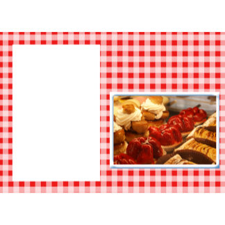 Red and White Checked Plaid Dessert