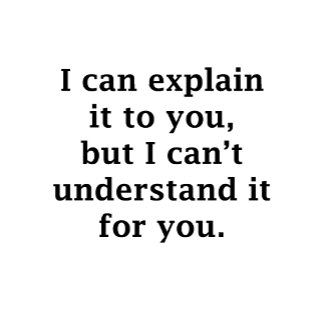 I Can Explain it to You....