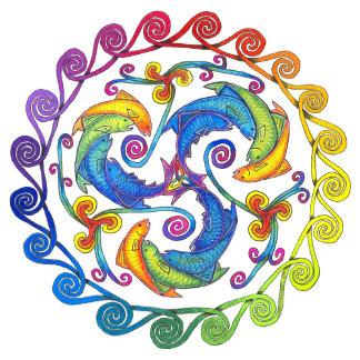 Rainbow Fish Spiral