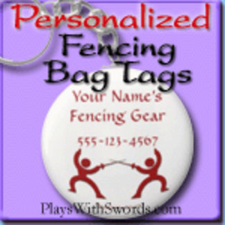 Personalized Fencer Gear Bag Tags