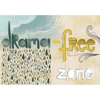 """Drama-free zone Poster Print"""