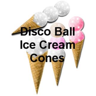 Disco Ball Ice Cream Cones
