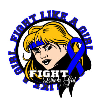 Rectal Cancer Fight Like A Girl Attitude
