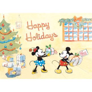 Mickey and Minnie Happy Holidays