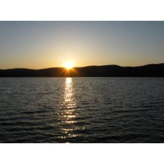 Sunset on Onota Lake: Horizontal