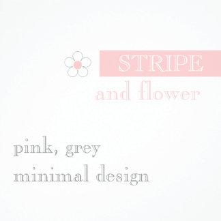 Modern stripe and flowers
