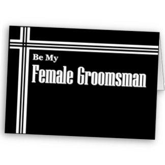Female Groomsman