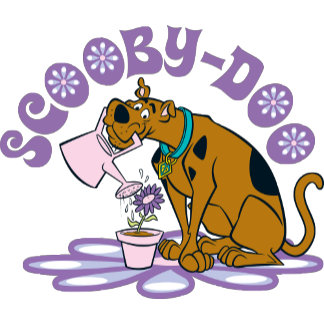 Scooby Doo Watering Flowers